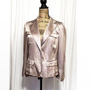 Dkny One Button Down Silk Jacket